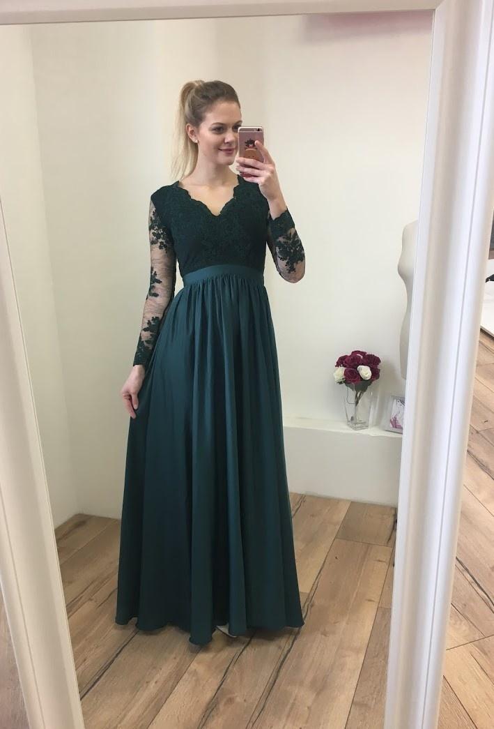 24bc800f1037 ... zelené Plesové šaty Artemis
