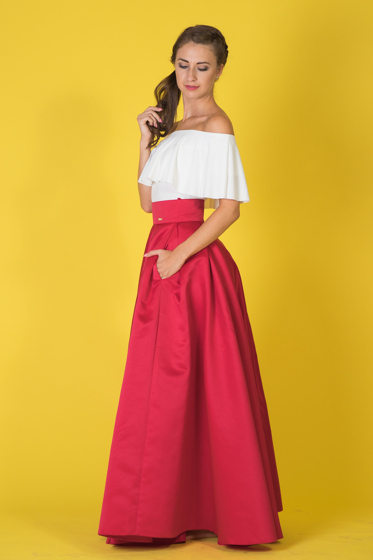 ... červená Maxi sukňa Sissi 24c799bb957