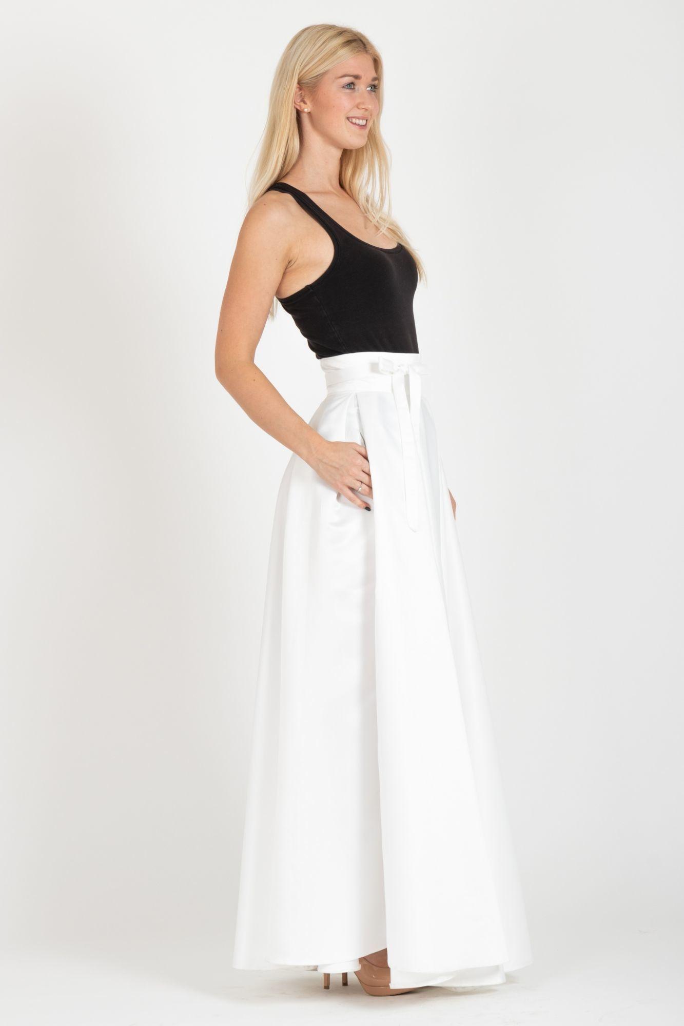 09527f41b04e ... biela Maxi sukňa Gigi