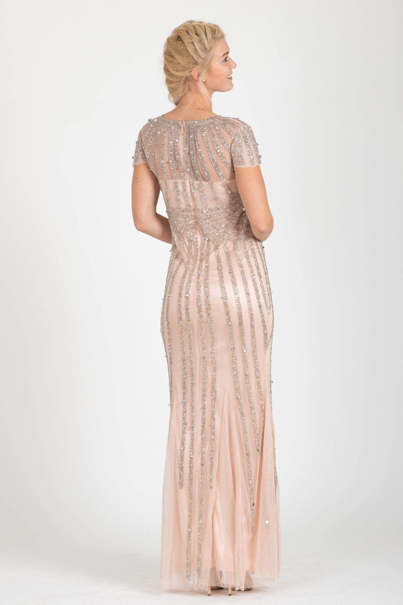 03ed310e621b ... ružové Plesové šaty Hviezdny prach