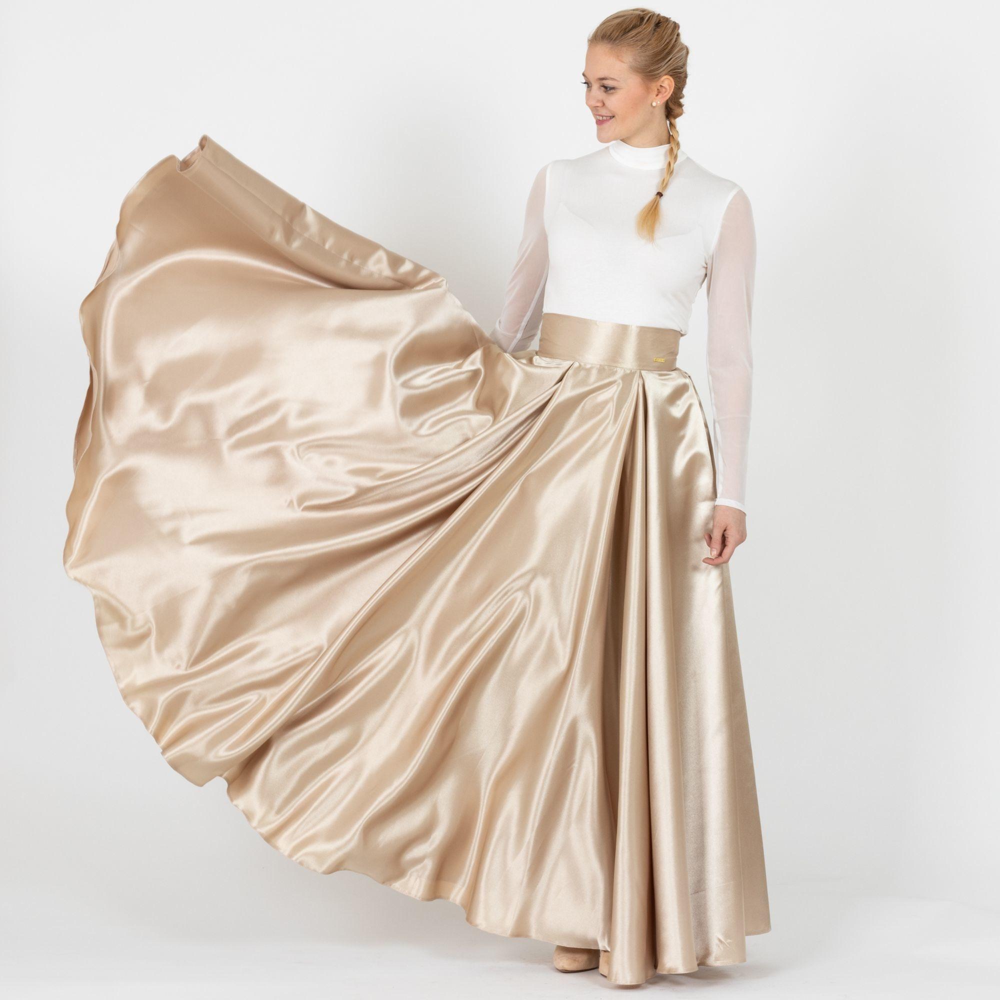 ... zlatá Maxi sukňa Sissi f4d20f2f8df