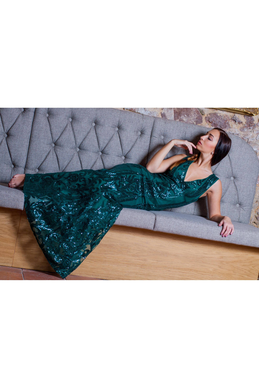 c21f146fb723 ... zelené Společenské šaty Mořská panna