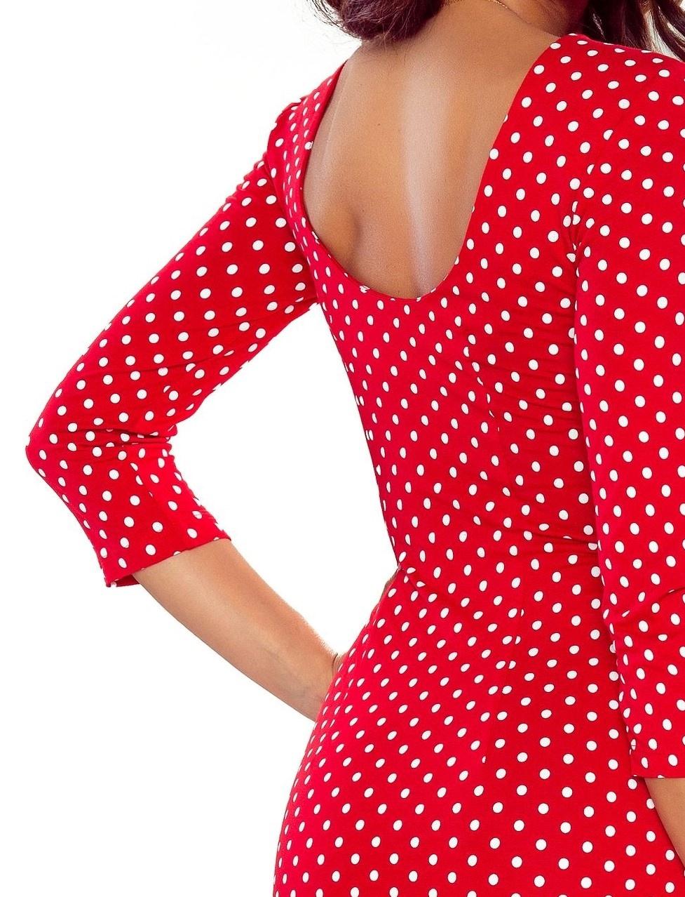 afd93b49346d ... červené Bodkované puzdrové šaty Cornelia