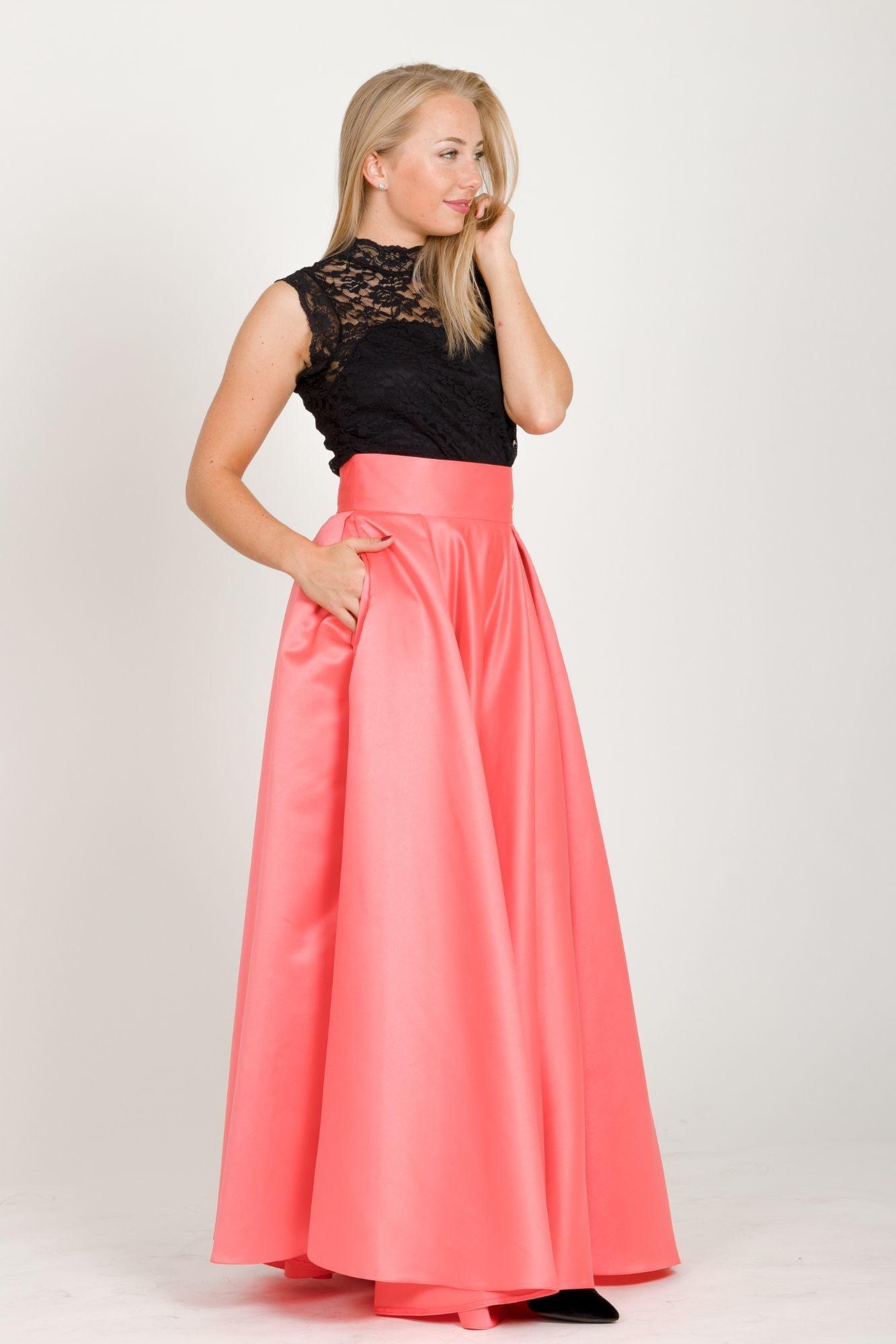 ... oranžová Maxi sukňa Sissi 59d3e073275