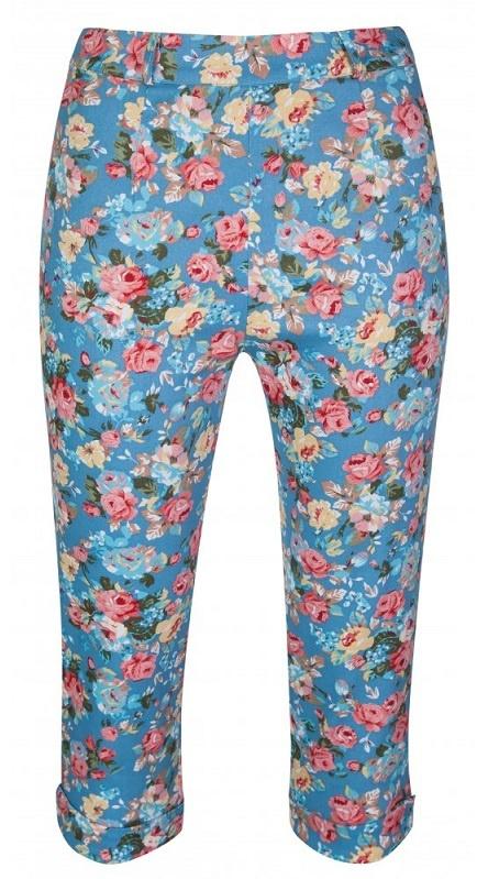 ... modré LindyBop trojštvrťové nohavice Kendra cb3d63b340