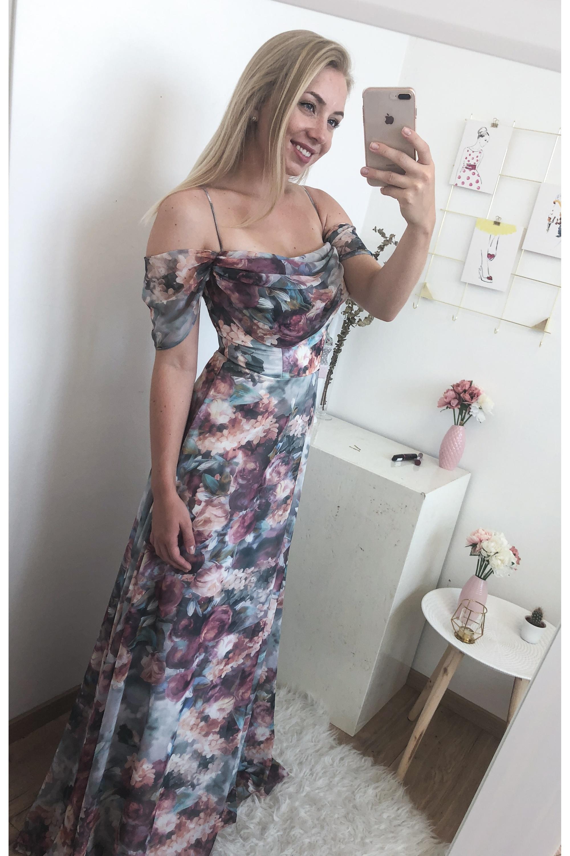 ... smotanové Spoločenské šaty Chardonnay 3fd3e944222