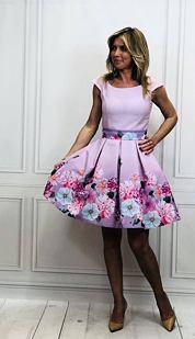 Šaty Levanduľová nostalgia, fialové