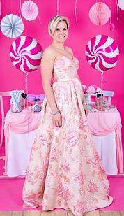 Plesové šaty Vanilka, ružový variant
