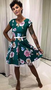 Šaty Klárka, zelené