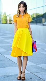 Sukňa Vodopádka, žltá