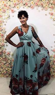 Spoločenské šaty Jarný závan, mintové