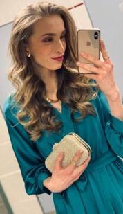 Maxi šaty Svedomie, smaragdové