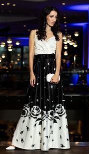 Plesové šaty Spievanka, biely top