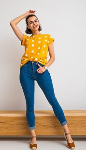 Tričko Xoxo, žluté