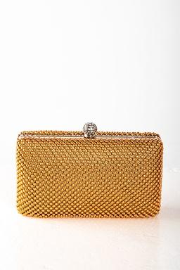 Listová kabelka Jesca, zlatá