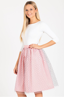 Tylová TUTU sukňa Romantická láska, ružová