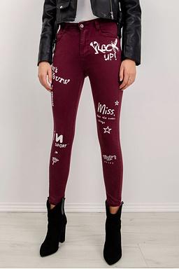 Kalhoty Rock Star, vínové
