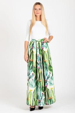 Maxi sukňa Cactusio, zelená