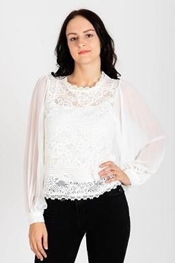 Čipkovaná blúzka Lorena, biela