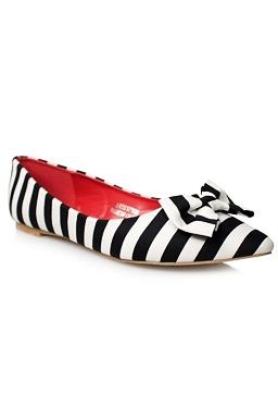 Balerínky Lovely Stripes, čierne