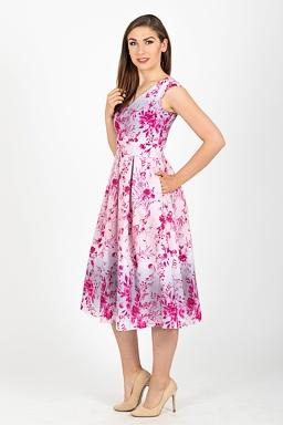 Midi šaty Jarné snívanie, ružové