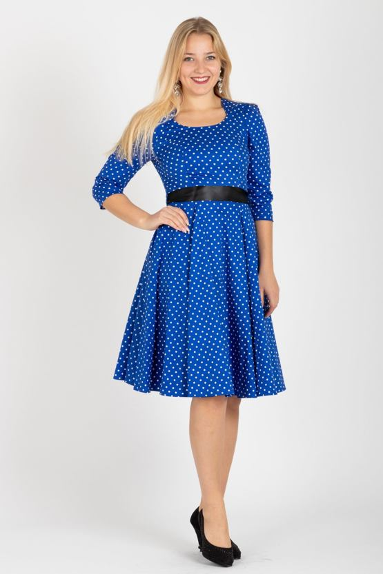 e4625d5abbc5 Retro šaty s bodkami Adele
