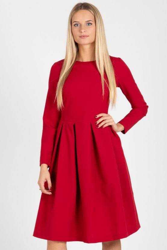 Šaty Ďatelina, červené