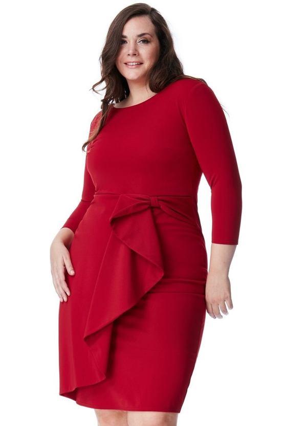 Plus size šaty Lovela, vínové