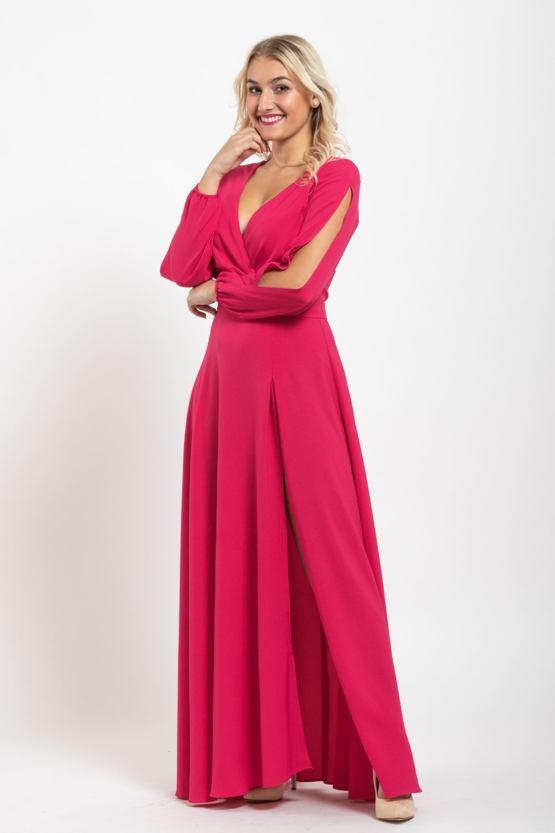Plesové šaty Absolutno, magentové