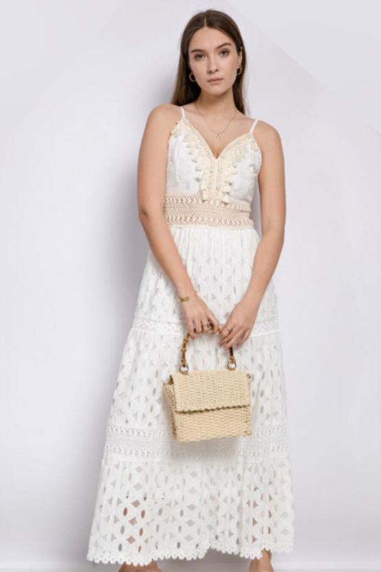 Maxi šaty Gelato, bílé