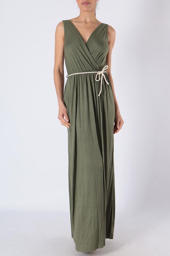 Maxi šaty Mauricius, khaki
