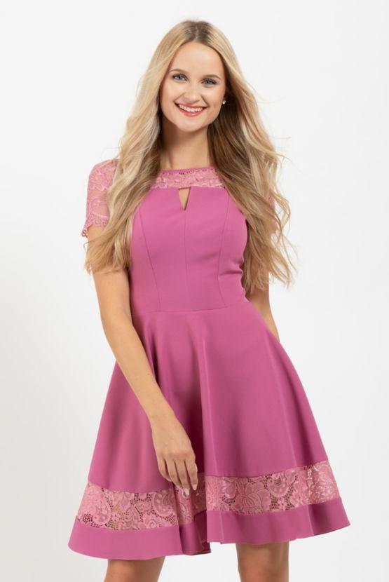 Spoločenské šaty Arabeska, ružové