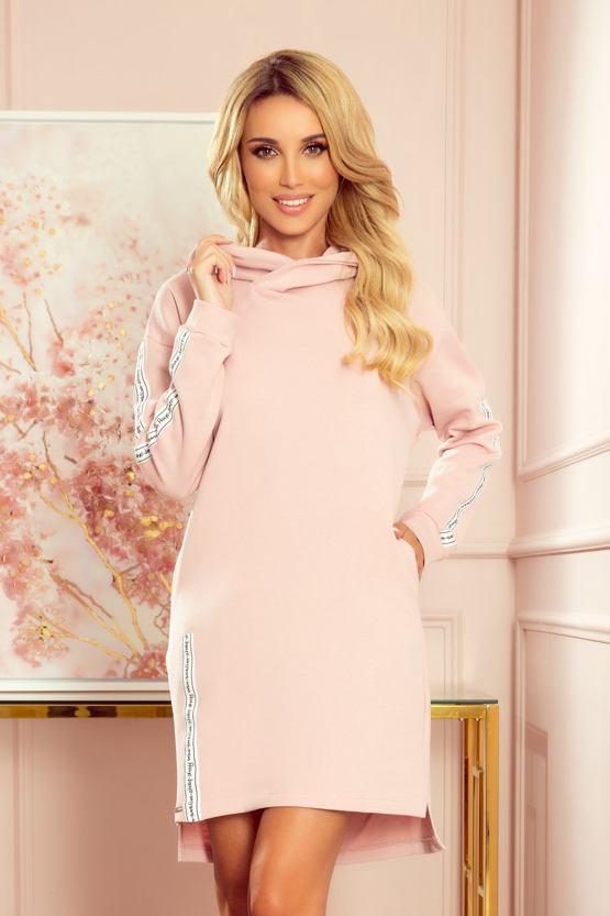 Mikinové šaty Stella, růžové