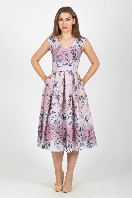 Midi šaty Závan jari, staroružové