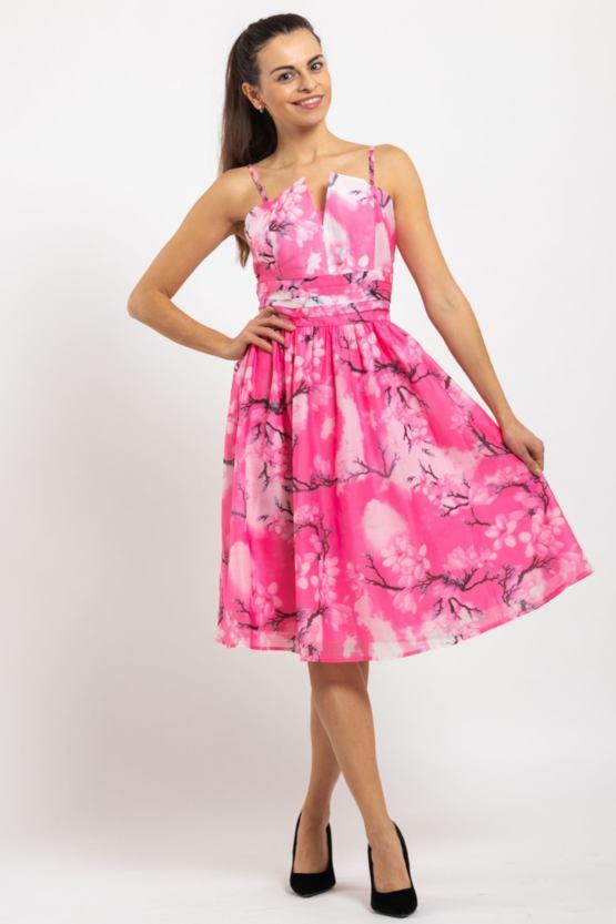 Vzdušné šaty Sakura, ružové