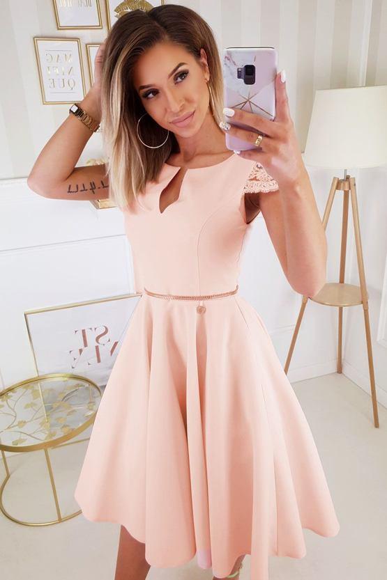 Šaty Romantická láska, oranžové