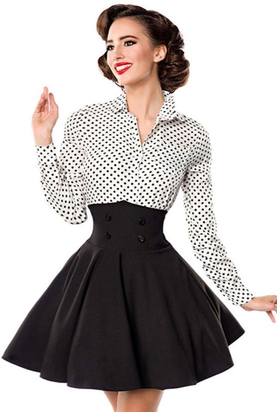 a281ad34ef17 Krátka pásová retro sukňa Andrea