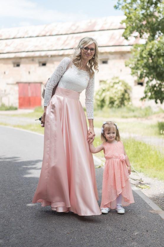 Maxi sukňa Sissi, svetloružová