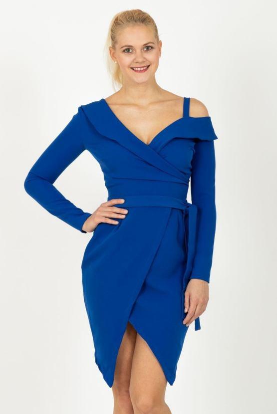 Puzdrové šaty Metamorfóza, modré