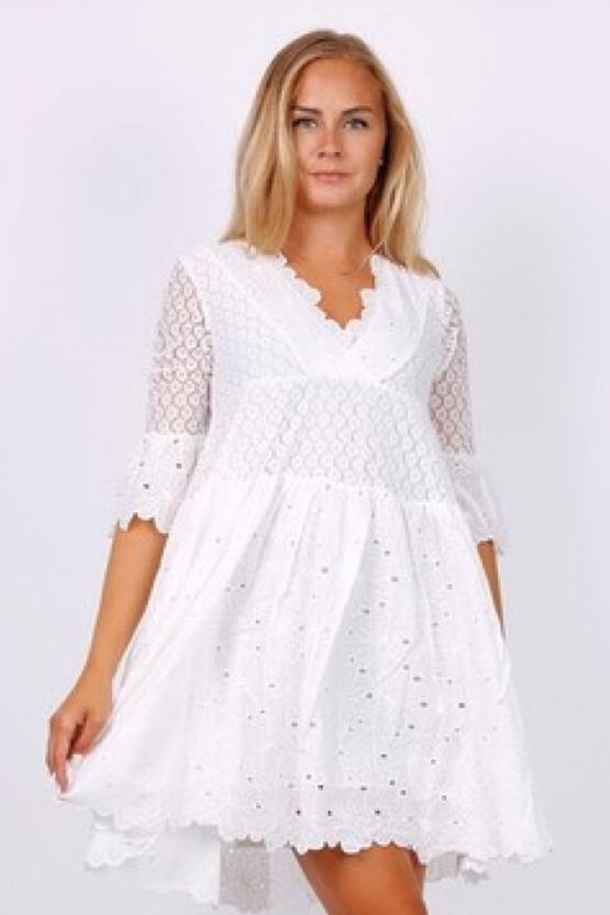 Boho šaty Alabastr, bílé
