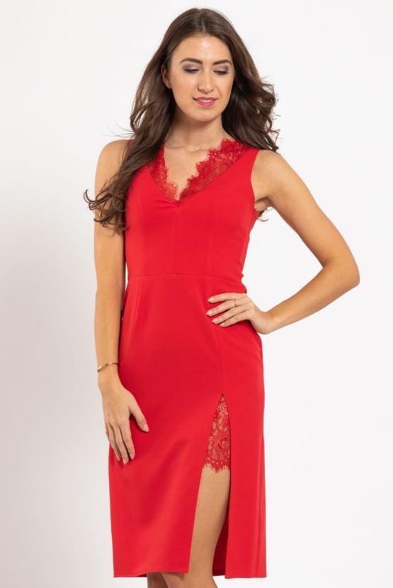 Puzdrové šaty Chic Lady, červené