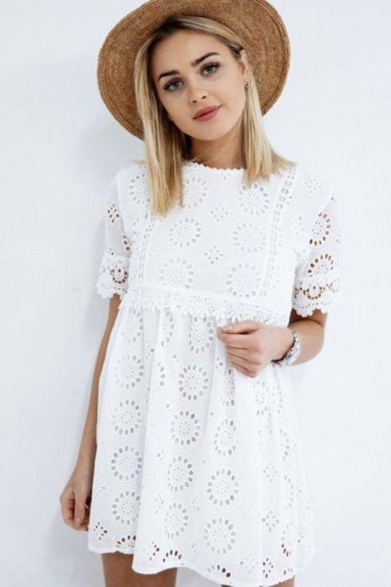 Boho šaty Tichá řeka, bílé