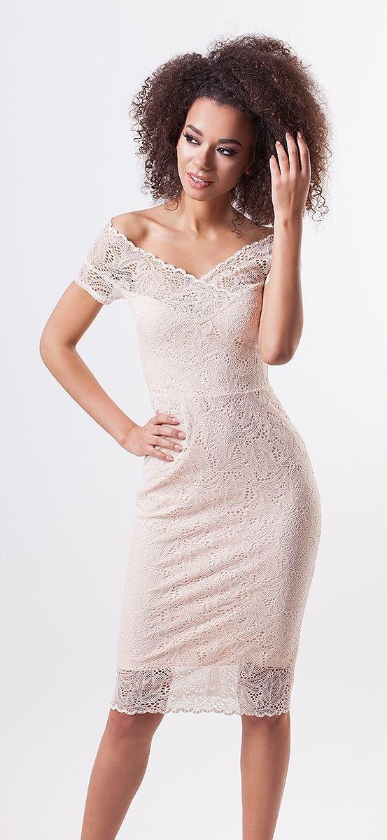 Čipkované púzdrové šaty Fit f52301d8ed0