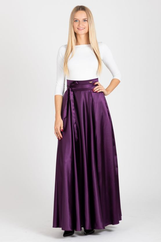 Maxi sukňa Domino, fialová