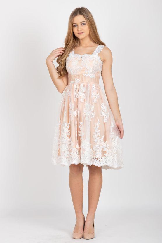 Spoločenské šaty Bela, marhuľové