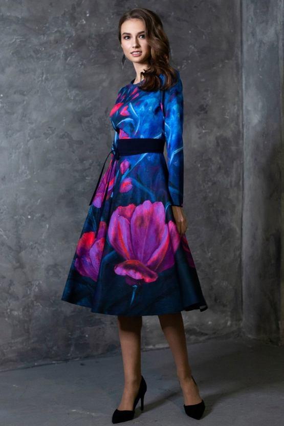 Šaty Tulipa, modré