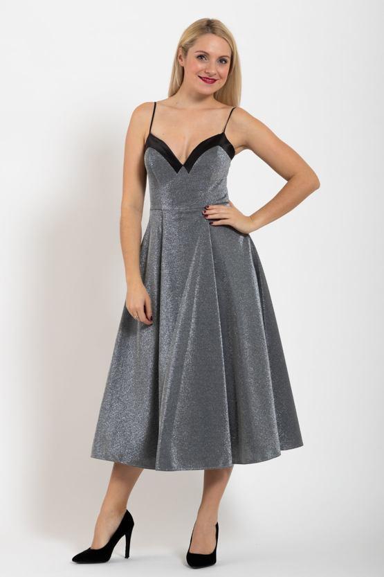 Spoločenské šaty New York, strieborné