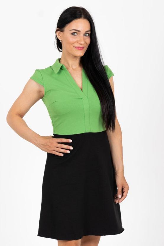 Šaty Lupina, zelený top