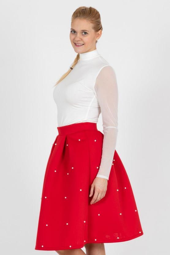 Sukňa Abrakadabra, červená