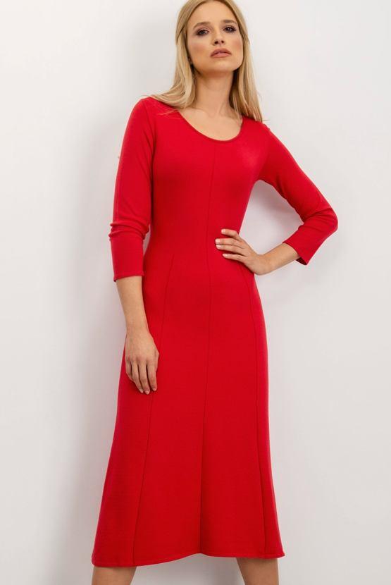 Midi šaty Brusinka, červené
